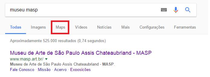 Mapa Masp Google