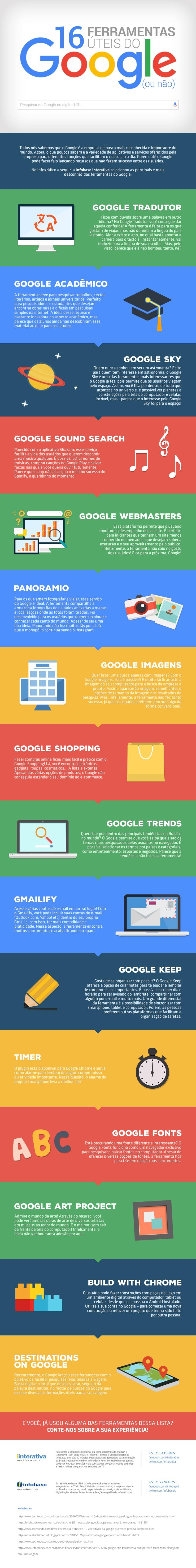 16 ferramentas Google